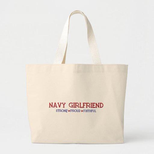 Strong Proud Faithful - Navy Girlfriend Tote Bags