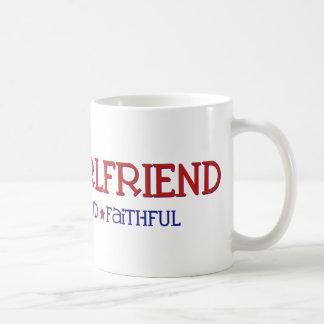 Strong Proud Faithful - Navy Girlfriend Classic White Coffee Mug