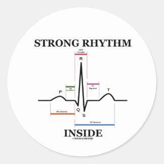 Strong Rhythm Inside (ECG/EKG Heartbeat) Stickers