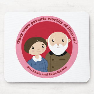 Sts. Louis and Zelie Martin Mouse Pad