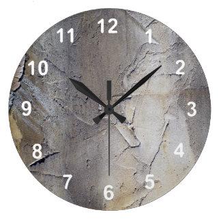 Stucco Wall Large Clock