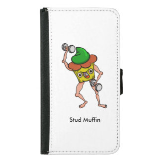 Stud Muffin Gentle Giant Funny Illustration Samsung Galaxy S5 Wallet Case