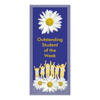 Student Recognition Daisies Bookmark Customized Rack Card