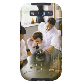 Students in School Chemistry Lab Galaxy SIII Covers