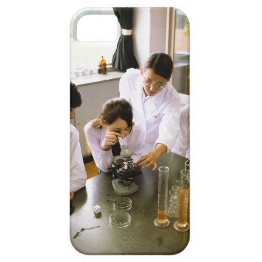 Students in School Chemistry Lab iPhone 5 Case