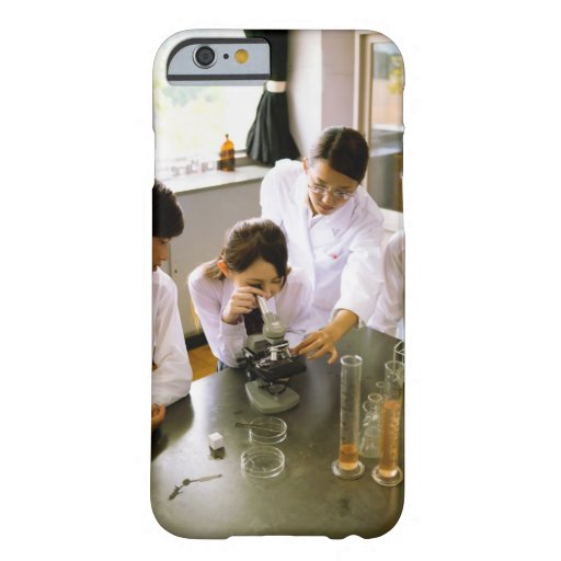 Students in School Chemistry Lab iPhone 6 Case