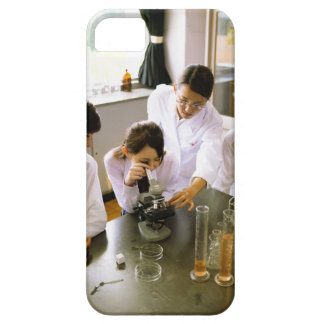 Students in School Chemistry Lab iPhone 5 Covers