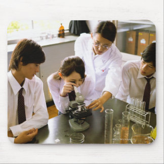Students in School Chemistry Lab Mouse Pad
