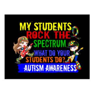 Students Rock The Spectrum Autism Postcard