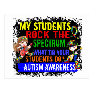 Students Rock The Spectrum Autism Postcard