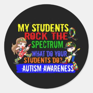 Students Rock The Spectrum Autism Round Sticker