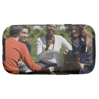 Students with professor samsung galaxy SIII cases