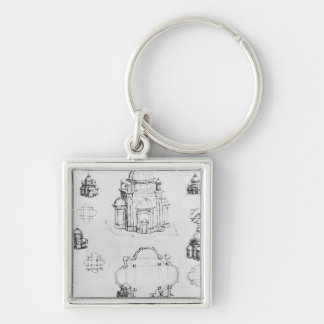Studies for a building of a centralised plan key ring