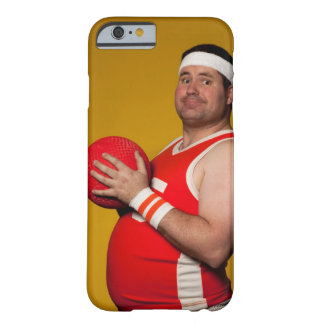 Studio portrait of young man holding playground barely there iPhone 6 case