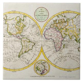 Studio shot of antique world map 2 tile