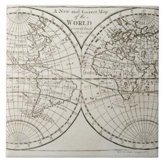 Studio shot of antique world map 3 tile