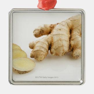 Studio shot of fresh ginger christmas ornament