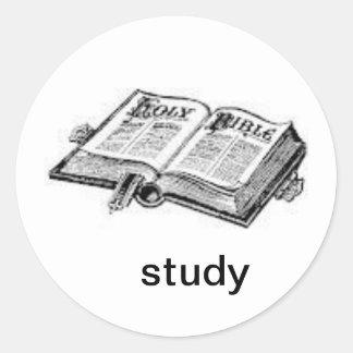 study classic round sticker