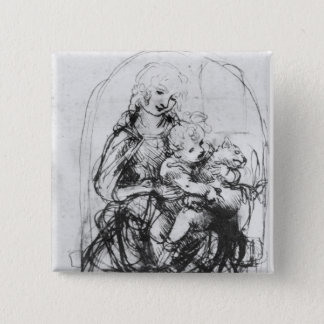 Study for a Madonna with a Cat, c.1478-80 15 Cm Square Badge