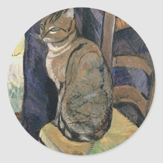 Study of a cat by Suzanne Valadon Classic Round Sticker