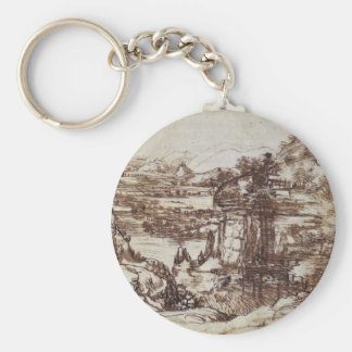 Study of a Tuscan landscape. Key Ring