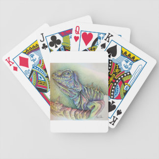 Study of An Iguana Bicycle Playing Cards
