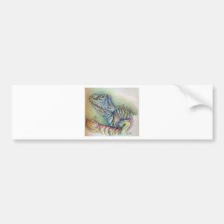Study of An Iguana Bumper Sticker