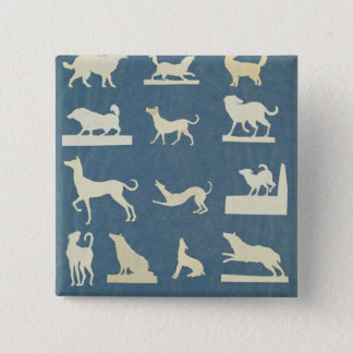 Study of Dogs 15 Cm Square Badge