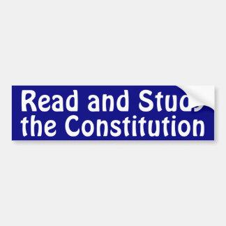 Study the Constitution Bumper Sticker