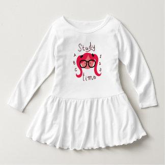 Study Time! Toddler girl long sleeve dress