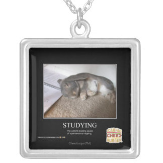 Studying Silver Plated Necklace