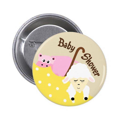 Stuffed Animals Baby Shower Button