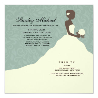 Stunning Bride Trunk Show Invitation