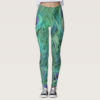 Stunning Peafowl Feathers Leggings