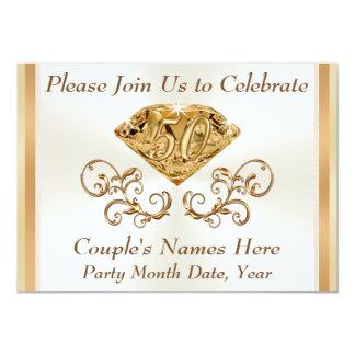Stunning Personalized 50th Anniversary Invitations