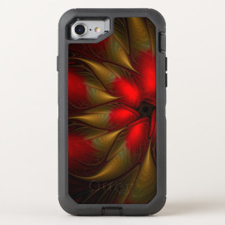 stunning poinsettia flower OtterBox defender iPhone 8/7 case