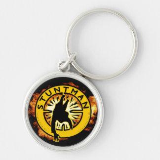 Stuntman Key Ring Silver-Colored Round Key Ring