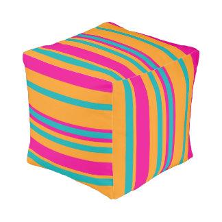 Sturdy Spun Polyester Cube Pouf