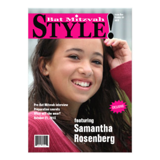 Style Bat Mitzvah Magazine Invitation