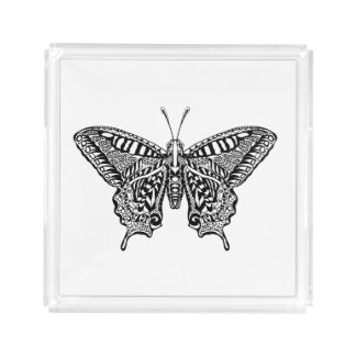 Style Butterfly Acrylic Tray
