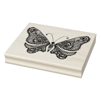 Style  Butterfly Rubber Stamp