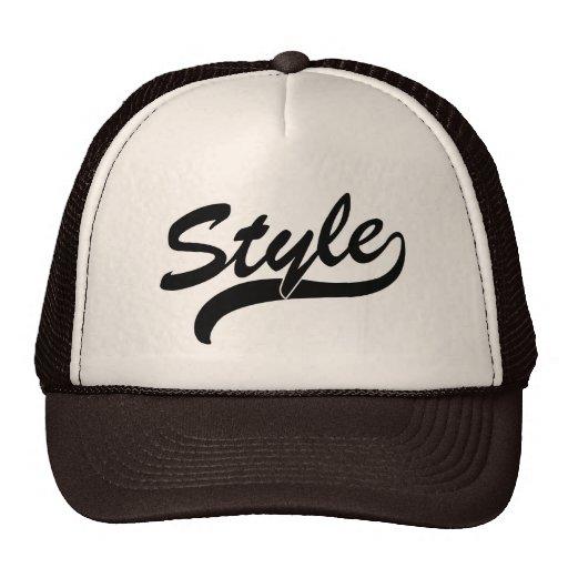 Style cursive hat