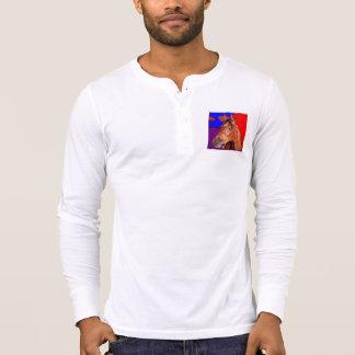 Style Men s Canvas Henley Long Sleeve Shirt horse