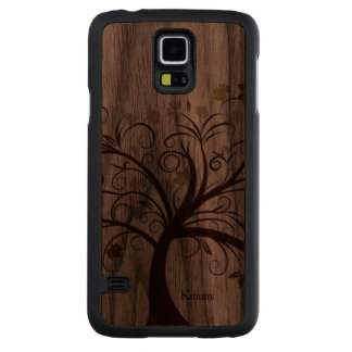 Stylised Tree Wooden Samsung S5 Case