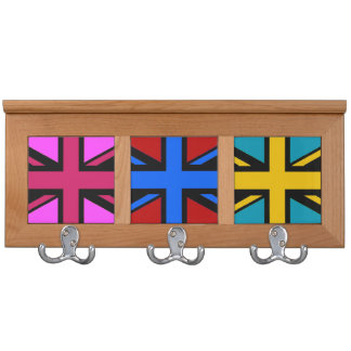 Stylised Union Jack Coat Rack
