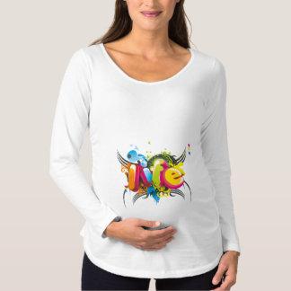 Stylish 3D Typography Maternity T-Shirt