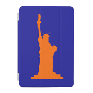 Stylish and Cool Orange and Blue Statue of Liberty iPad Mini Cover