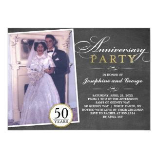 Stylish Anniversary Party Photo Invitation