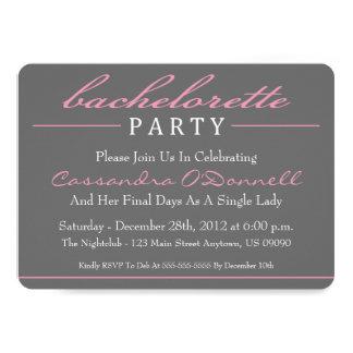Stylish Bachelorette Party Invitations (Pink)