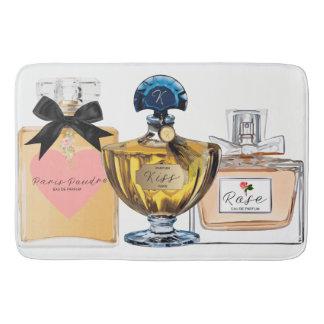 Stylish Bath Mat, Vintage Perfume Bottles, Pretty Bath Mats